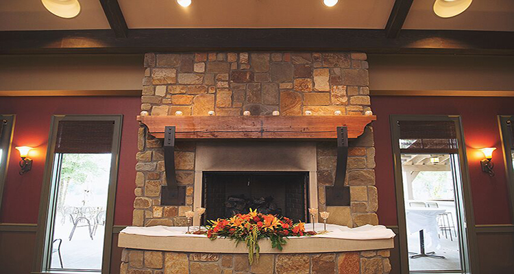 StoneWater Fireplace Wedding Reception