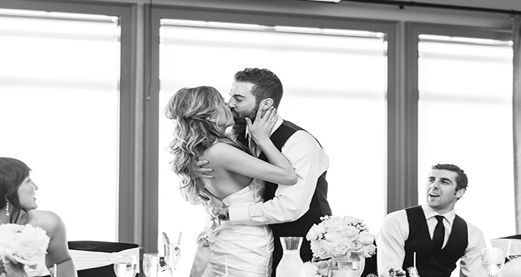 Kissing StoneWater Wedding