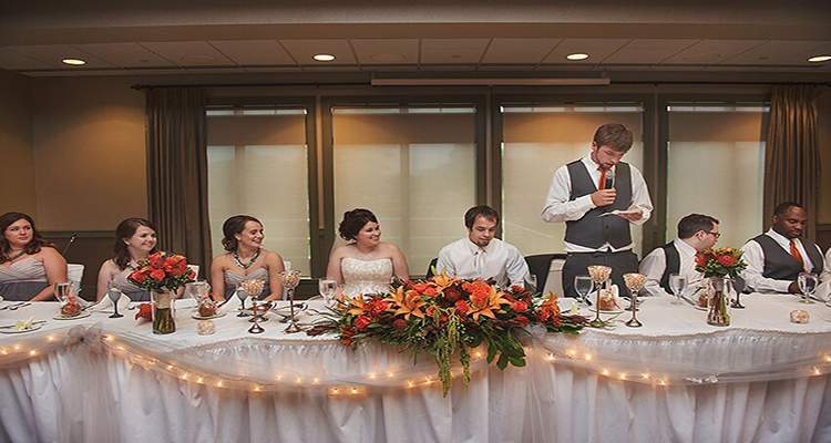 Head Table StoneWater Wedding Reception